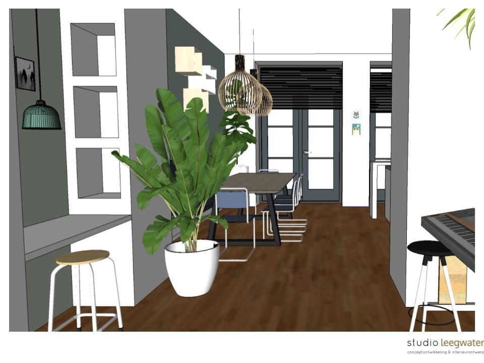 3D-impressie woonkamer De Nieuwe Emma 2 - Studio Leegwater ...