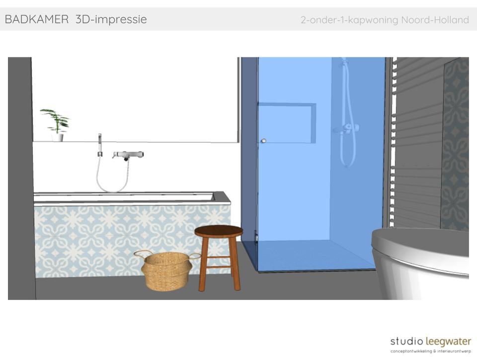 Badkamers Noord Holland : Badkamer d impressie onder kapwoning noord holland studio