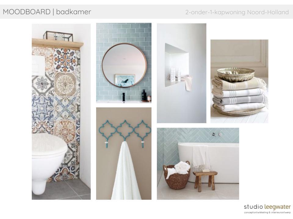 Badkamers Noord Holland : Moodboard badkamer onder kapwoning noord holland studio